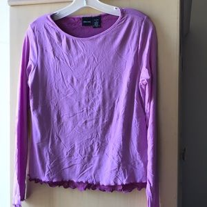 Double layered Stretchy Ruffled Top